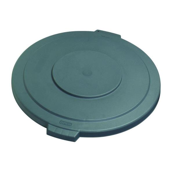 Bronco 10 Gal. Gray Round Trash Can Lid (6-Pack)