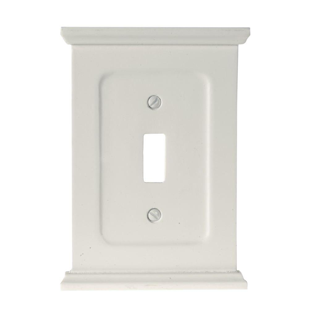 Amerelle Mantel 1 Toggle Wall Plate - White