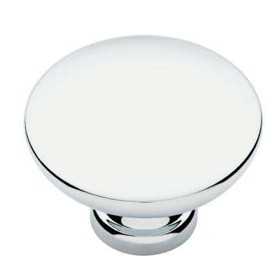 Pierce 1-3/8 in. (35mm) Polished Chrome Round Cabinet Knob