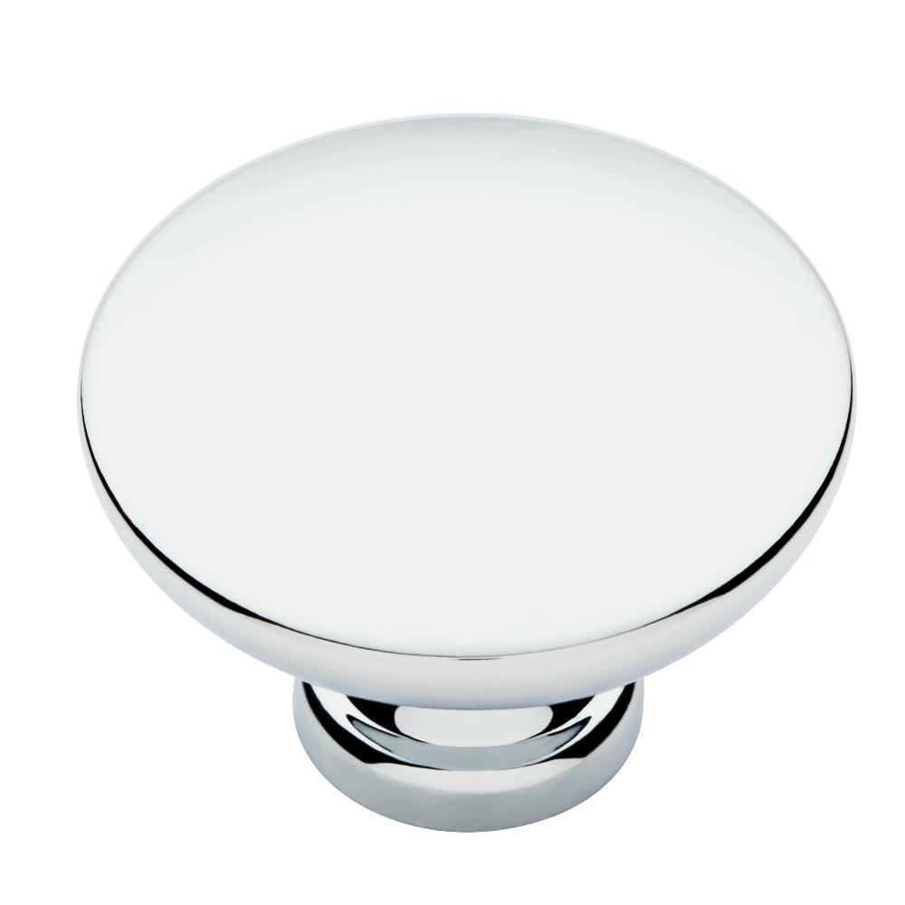 Pierce 1-3/8 in. (35 mm) Polished Chrome Round Cabinet Knob