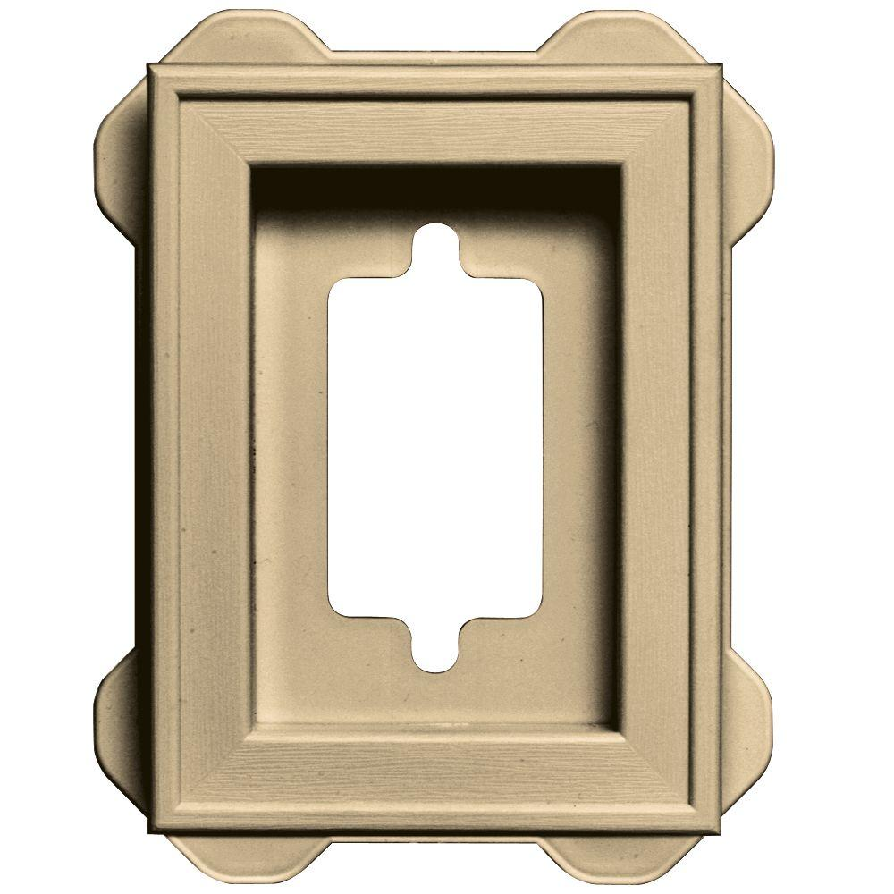 4.5 in. x 6.3125 in. #012 Dark Almond Recessed Mini Mounting