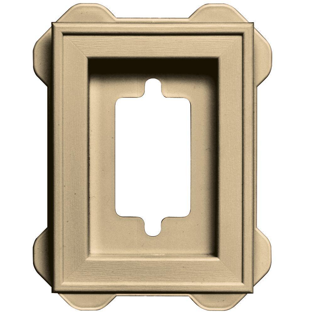 4.5 in. x 6.3125 in. #012 Dark Almond Recessed Mini Mounting Block