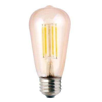 ProLED Filament LED 75-Watt Equivalent Warm White Amber ST19 Dimmable LED Antique Vintage Style E26 Light Bulb