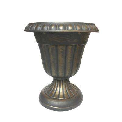Traditional 16 in. x 18 in. Gold Plastic Urn