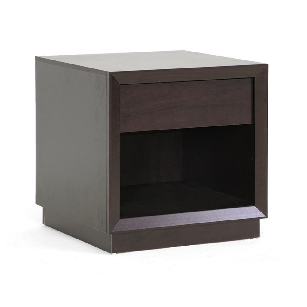 Baxton Studio Girvin Dark Brown End Table 28862 4361 Hd The Home Depot