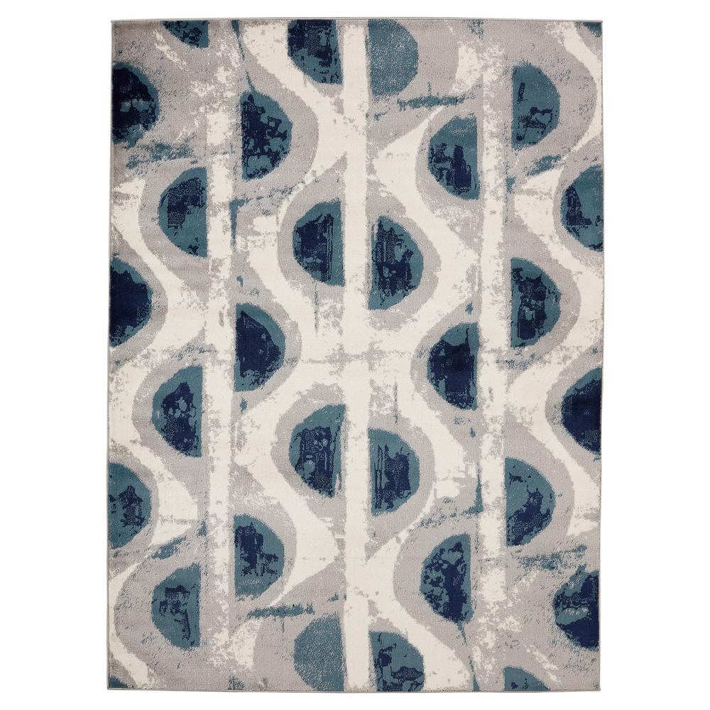 Jasmin Collection Moroccan Trellis Design Navy And Ivory 5