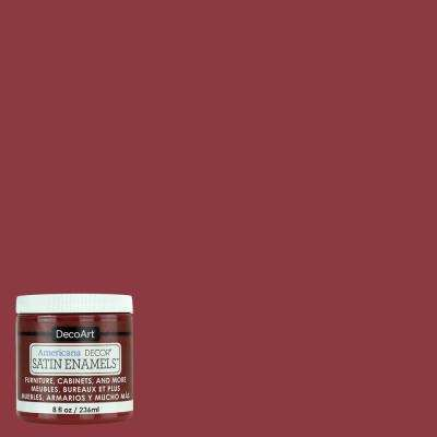 8 oz. Deep Ruby Satin Enamel Paint