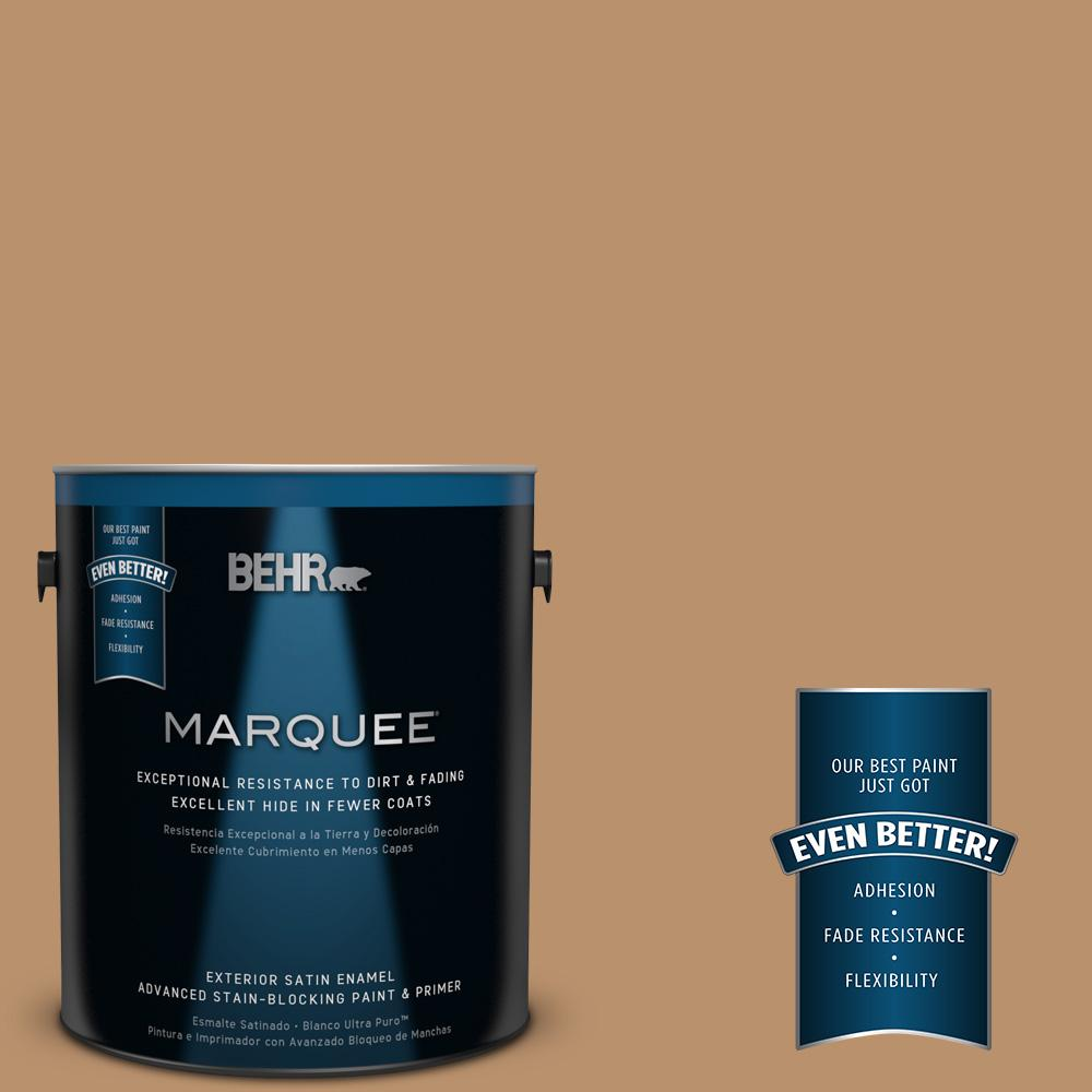 BEHR MARQUEE 1-gal. #S280-5 Windswept Leaves Satin Enamel Exterior Paint