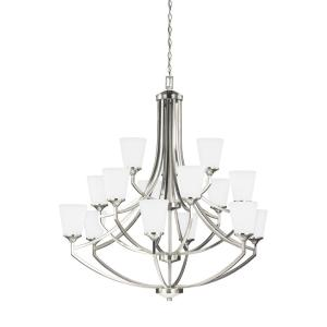 Sea Gull Lighting Hanford 15-Light Brushed Nickel Chandelier with LED Bulbs by Sea Gull Lighting