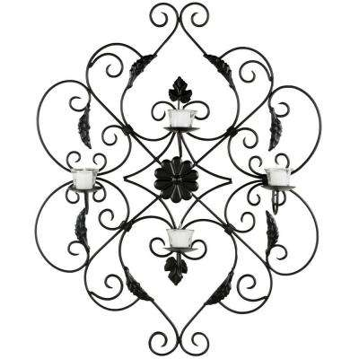 33.5 in. Pillar Wall Decor in Black