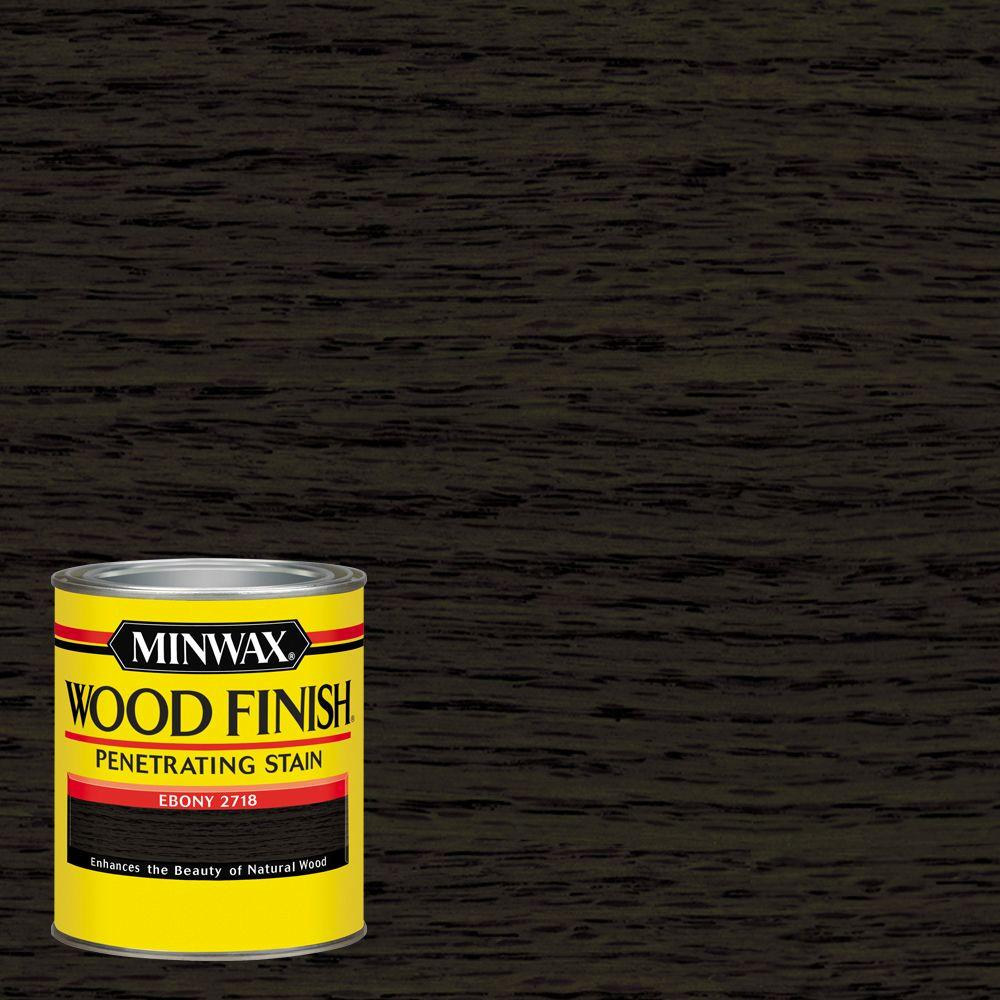 1-qt. Wood Finish Ebony Oil Based Interior Stain (4-Pack)