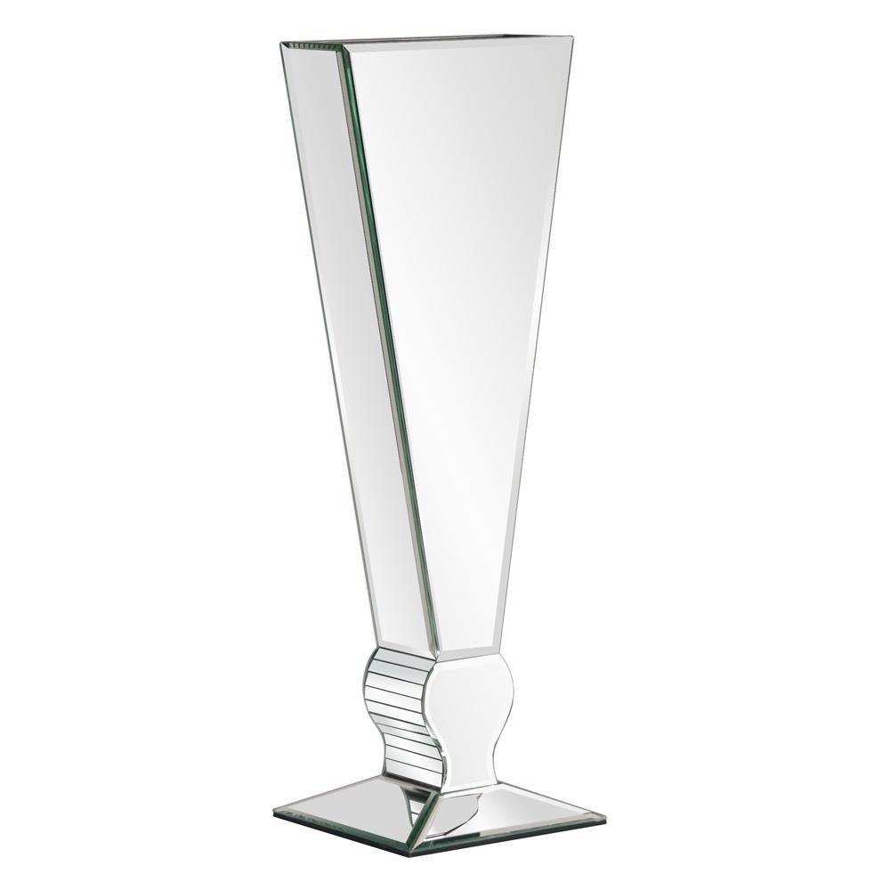 "Mirrored ""V"" Shaped Decorative Vase - Tall"