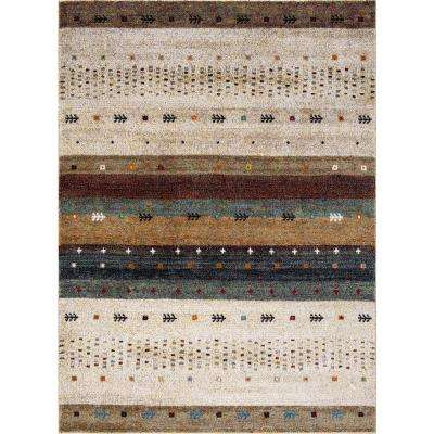 Diamond Gabbeh Beige 8 ft. x 11 ft. Area Rug