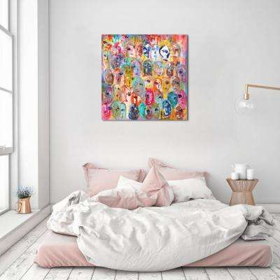 12 in. H x 12 in. W 'SAI - Visages De Couleur' by Oliver Gal Framed Canvas Wall Art