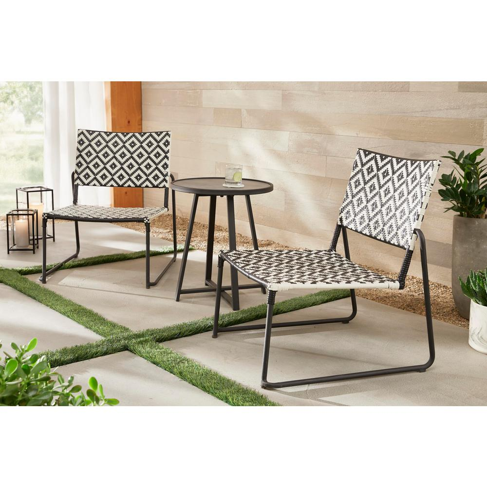 hamptonbay Hampton Bay Cayman 3-Piece Wicker Outdoor Patio Bistro Set