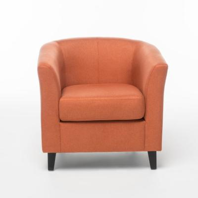 Preston Orange Fabric Club Chair