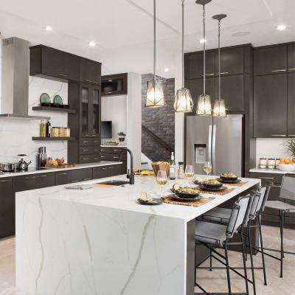 Custom Kitchen Cabinets Shown in Modern Style