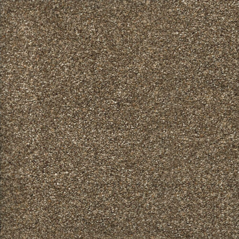 Home Decorators Collection Stryker Court - Color Greystone Texture 12 ft. Carpet