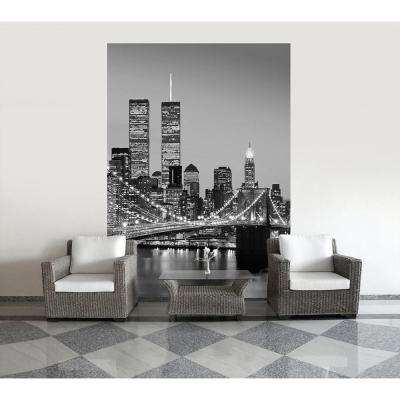 72 in. H x 100 in. W Manhattan Sky at Night Wall Mural