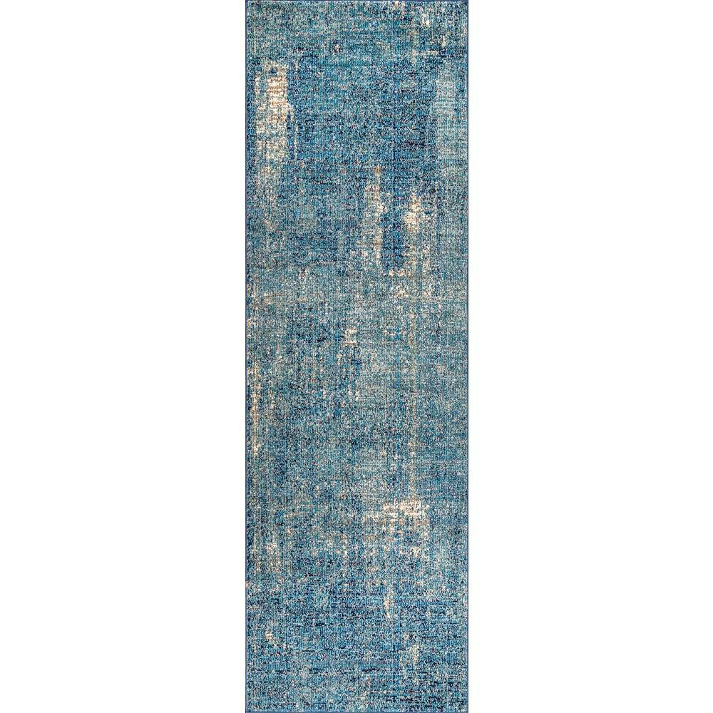 Vintage Bernadette Blue 2 ft. 8 in. x 8 ft. Runner Rug