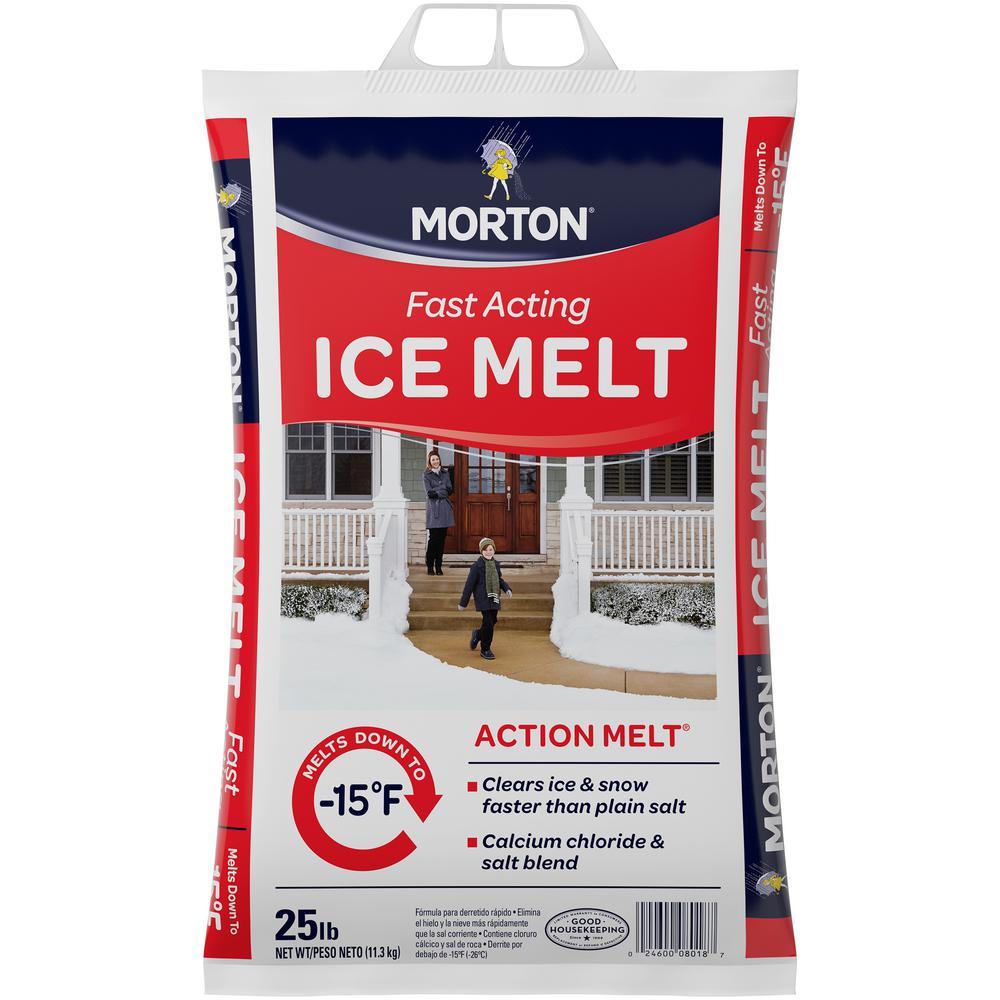 Morton Salt 25 Lbs Action Ice Melt 8018 The Home Depot