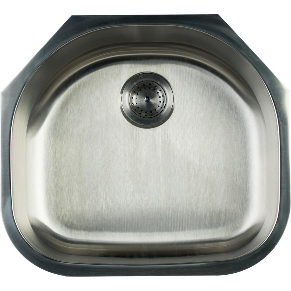 Glacier Bay Undermount Stainless Steel 23 In. Single Bowl Kitchen Sink