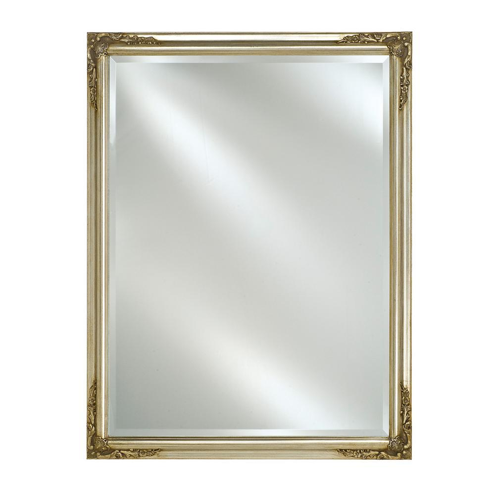 Afina Single Door 20 in. x 26 in. Recessed Basix Plus Antique Silver  Medicine - Afina Single Door 20 In. X 26 In. Recessed Basix Plus Antique Silver