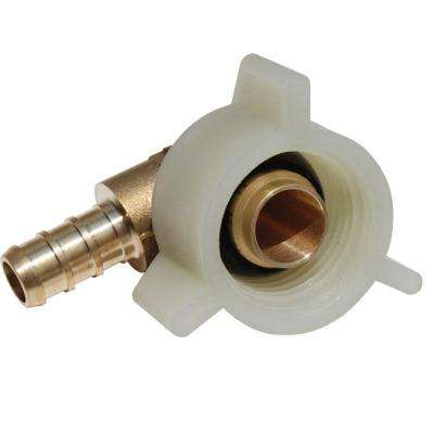 3/8 in. Brass PEX Barb x 1/2 in. Female Swivel 90° Elbow