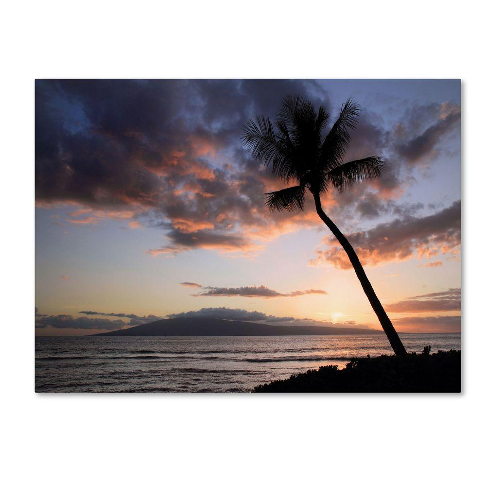 14 in. x 19 in. Palm Tree Maui Canvas Art