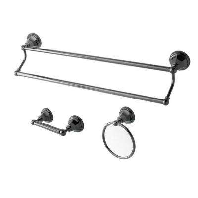 3-Piece Bathroom Accessory Set in Black Stainless Steel