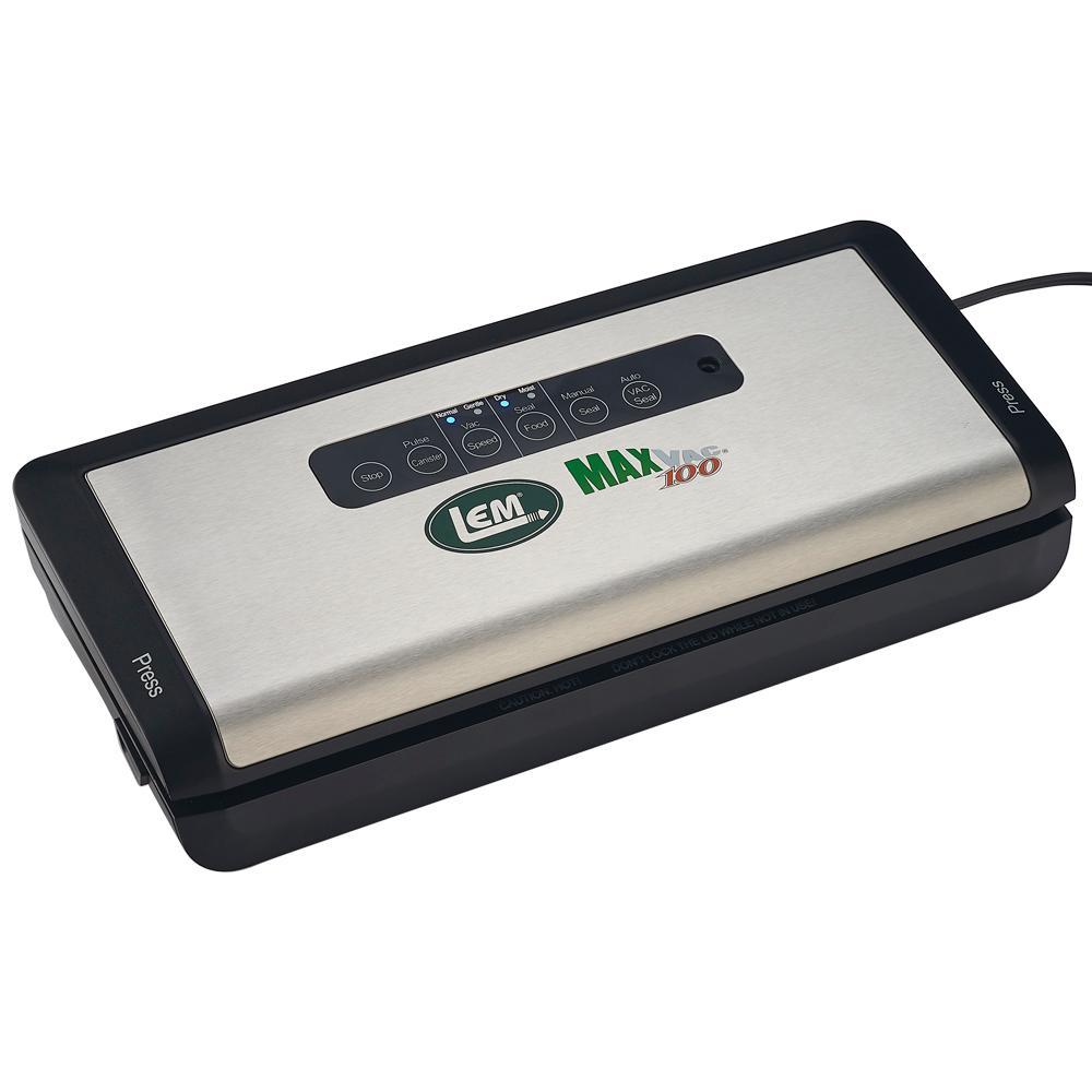 MaxVac 100 Black Stainless Steel Food Vacuum Sealer