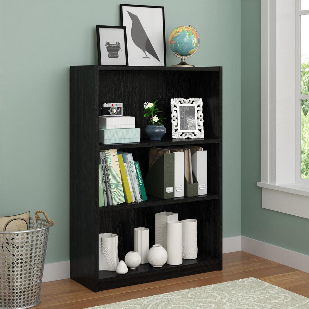 Altra Furniture Core Black Ebony Ash Open Bookcase 9425026PCOM