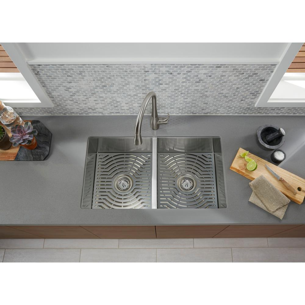 Sterling Ludington Undermount Stainless Steel 32 In 50 50