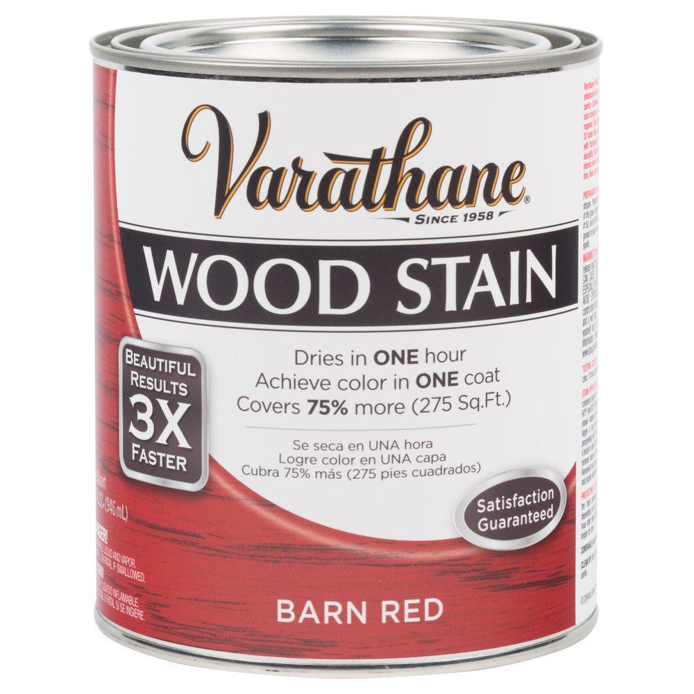 Varathane 1 qt. Barn Red Premium Fast Dry Interior Wood Stain