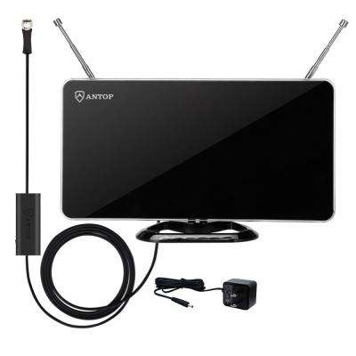 Curved Panel Indoor HDTV Antenna with Smartpass Amplifier and Built-In 4G LTE Filter