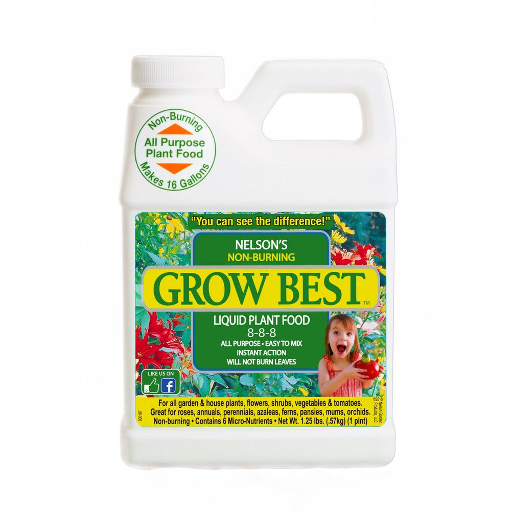 Grow Best 1 Pint Liquid Plant Food 100083295 The Home Depot
