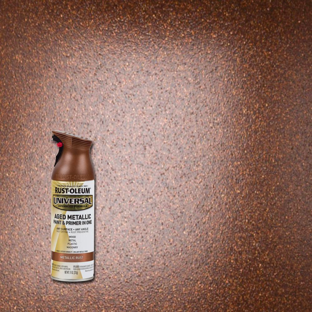 11 oz. All Surface Aged Metallic Rust Spray Paint and Primer
