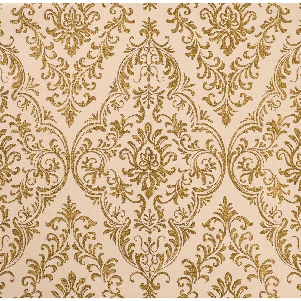 York Wallcoverings Reflections Decorative Medallion Wallpaper ...