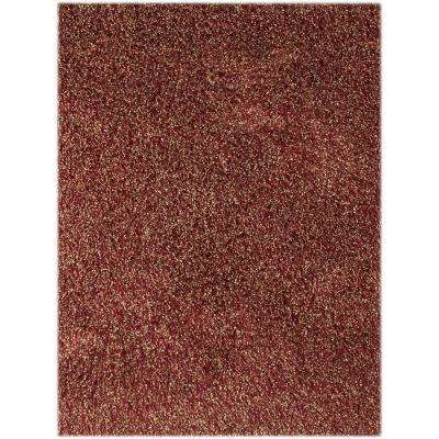 Peitrek Red 7 ft. 6 in. x 9 ft. 6 in. Rectangle Area Rug