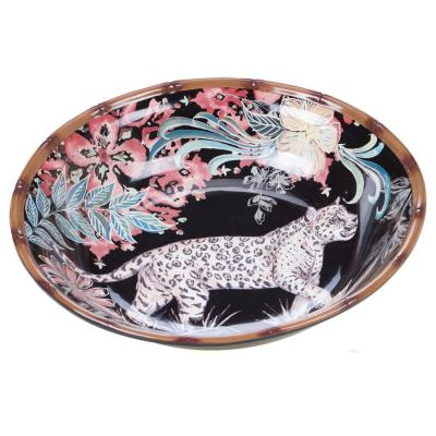 Multi-Colored 104 oz. Exotic Jungle Serving Bowl