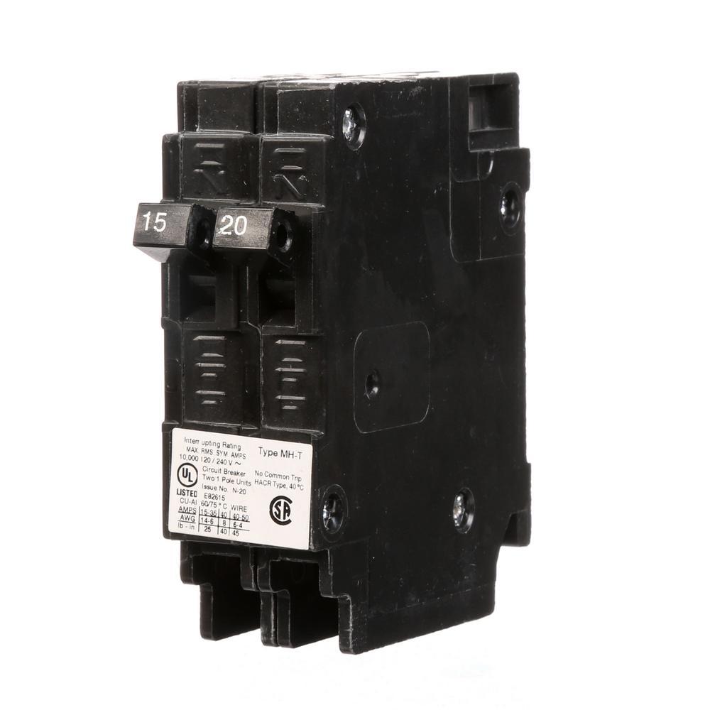 15/20 Amp Single Pole Tandem NCL Type MH-T Plug-In Circuit Breaker
