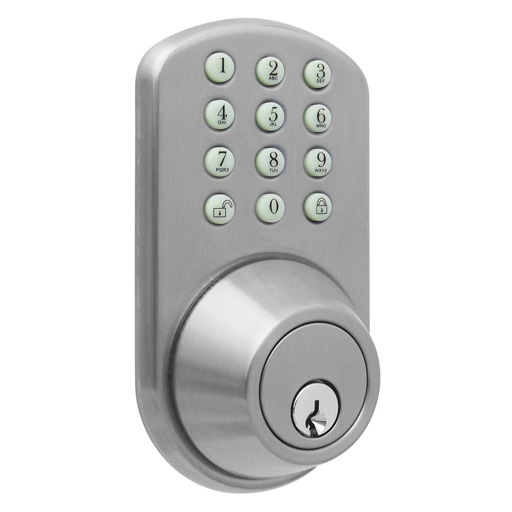 Morning Industry Single Cylinder Satin Nickel Electronic Touch Pad Deadbolt