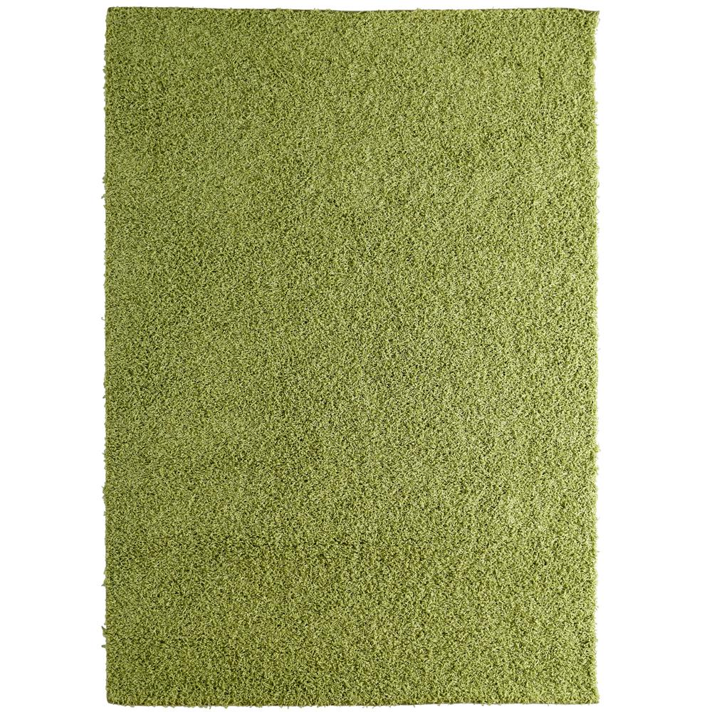 Custom Shag Keylime Green 4 ft. x 6 ft. Indoor Area