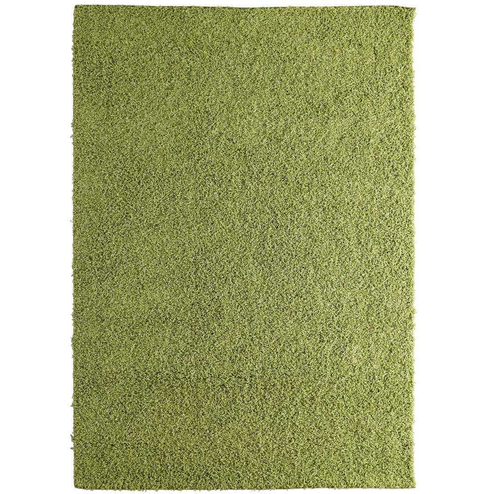 Custom Shag Keylime Green 6 ft. x 8 ft. Indoor Area