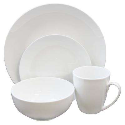Paton 37-Piece White Dinnerware Set