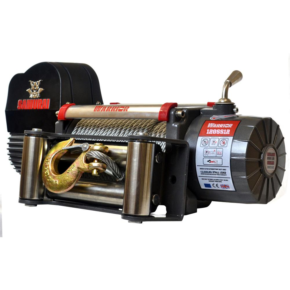 Samurai Series 12,000 lb. Capacity 12-Volt Electric Winch with 85 ft.