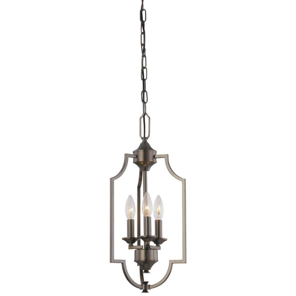 Thomas Lighting Chiave 3-Light Hanging Oiled Bronze Chandelier-DISCONTINUED