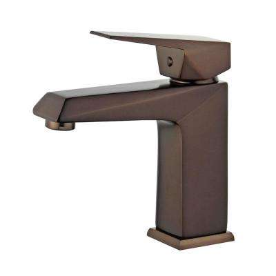 Valencia Single Hole Single-Handle Bathroom Faucet with Overflow Drain in Oil Rubbed Bronze