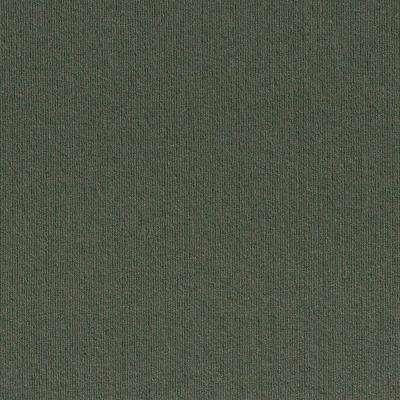 Premium Self-Stick First Impressions Olive Ribbed Texture 24 in. x 24 in. Carpet Tile (15 Tiles/Case)