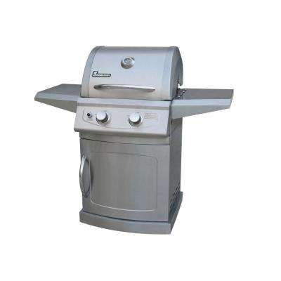 Falcon Series 2-Burner Propane Gas Grill in All Stainless Steel